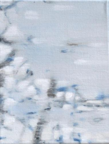 Branches in ice I Oil on canvas (20 x 30 cm)