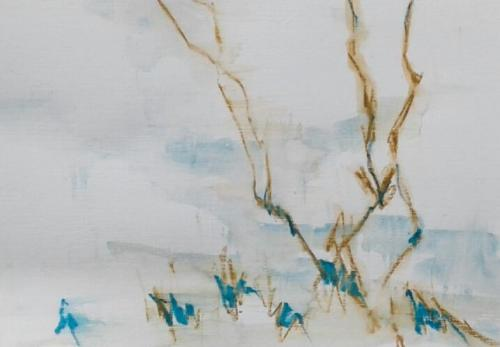 Branches Waterpastel on paper (21 x 30 cm)