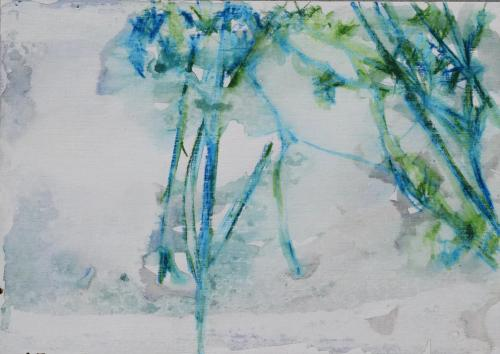 Leaves in spring Waterpastel on paper (21 x 30 cm)